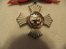 JAPANESE RED CROSS ORDER OF MERIT WOMENS BOW SILVER & ENAMEL  W/BOX