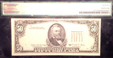 1988 $50 FRN- OVER PRINT ON THE BACK-PMG 45