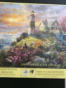 NEW:  A Lighthouse Memory 1000 pieces Oversized Pieces Jigsaw Puzzle by SUNSOUT
