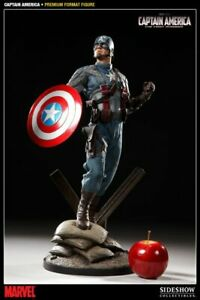 SIDESHOW  MARVEL'S  CAPTAIN AMERICA  1/4  PF NEW FACTORY SEALED SHIPPER LOW # 4