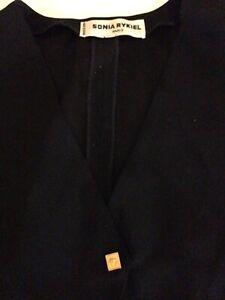 Sonia Rykiel Women's Vintage 80's Black Vest Gold Buttons Size 10AU 40EU