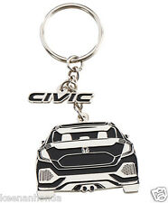 Genuine OEM Honda Lifestyle Collection Black Civic Metal Key Chain - Keychain 17
