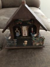Vintage Wooden Chalet House Weather Station German Toggli Thermometer Nice Cond