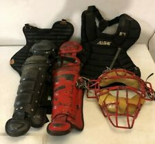 All Star & other Brand Catchers Gear Set of 5 pcs. including All Star Mask-Used