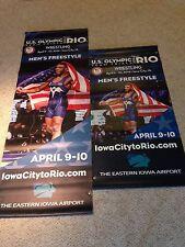 Jordan Burroughs Wrestling Banner, USA Olympic Wrestling Banner, Poster Rio
