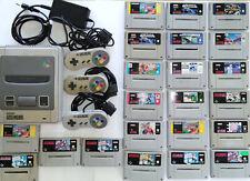 Super Nintendo SNES mit 22 Spiele, Basketball, Super Soccer, F1, uvm...