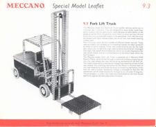 MECCANO modello piano 10.23/9.3 Elevatore a Forche