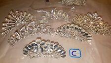 Joblot 12 pcs Silver color Diamante&Pearl Tiara  12 cm-9 cm Wholesale Lot C