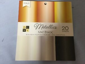 """DCWV METALLICS MAT STACK CARDSTOCK 6"""" by 6"""", 20 sheets"""