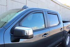 In-Channel Wind Deflectors 2019-2020 Chevy Silverado 1500 Crew Cab *Matte Black*