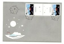 Aland FDC 2015 Scarce Gutter Pair Christmas Paper Decorations Sled AL049