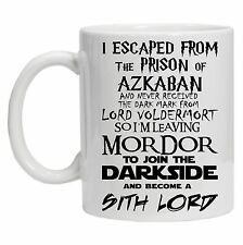 Escaped From Hogwarts Mug Lord of the Rings Star Wars Inspired Novelty Gift Mug