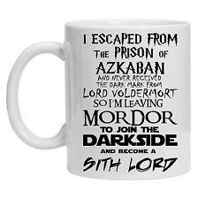 Escaped From Hogwarts Mug Lord of the Rings Star Wars Inspired Novelty Gift Mug