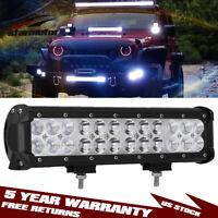 12INCH 72W LED WORK LIGHT BAR Spot Flood OFFROAD ATV FOG TRUCK LAMP 4WD 12V 24V
