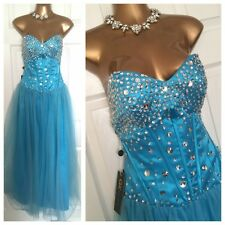 Bnwt Grace Karin DRESS SIZE 12 Blue Embellished Cruise Evening Party Occasion