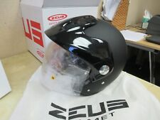ZEUS 3/4 OPEN FACE MOTORCYCLE + ATV + SCOOTER HELMET / FACESHIELD MATTE BLACK M