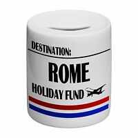 Destination Rome Holiday Fund Novelty Ceramic Money Box