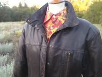 Vintage EDDIE BAUER Goose Down Filled Leather Jacket, Women's Sz SMALL, Bomber