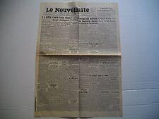 """Vieux Journal du 02/09/1942 """" Le Nouvelliste """" Voir détail"""