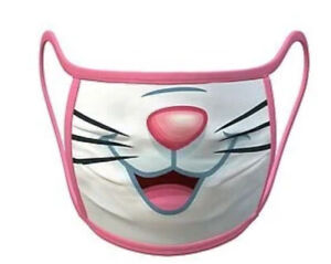 Disney Parks: Marie-(Aristocats) Fáce😷, Large,Color White/Pink,🚨New-In Plastic