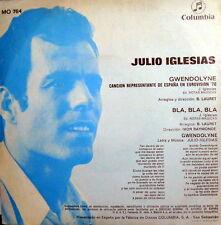 "JULIO IGLESIAS GWENDOLYNE 7"" EUROVISION '70 BLA,BLA,BLA+LYRICS (LAURET-RAYMONDE)"