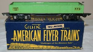 American Flyer #476 Pre War O Gauge Gondola in Original Box