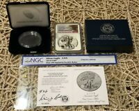 2019-S Enhanced Reverse Proof Silver Eagle NGC PF70 SIGNED DAVID J. RYDER #36!!!