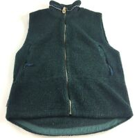 Columbia Womens Green Sleeveless Zip Up Sweater Vest Size Large