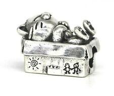 Sleeping Cat in Box 925 Sterling Silver Charm Bracelet Gift Troll Bead