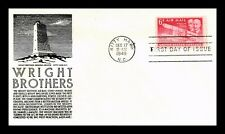 DR JIM STAMPS US WRIGHT BROTHERS AIRPLANE AIR MAIL CS ANDERSON FDC COVER C45