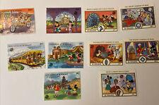 10 Walt Disney Mickey Mouse Stamps: 5 St. Vincent, 5 Grenadines of St. Vincent: