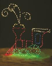 Christmas Animated Lighted Steam Engine Train 5' Tall Outdoor Holiday Display