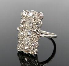 Antique 3.0ct Old Mine Cut Diamond Platinum Ring