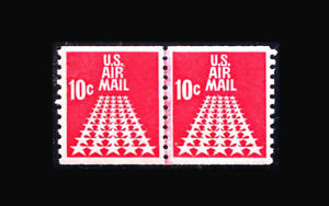 US Air Mail Stamp-Mint OG&NH, Super b S#C73 Line pair
