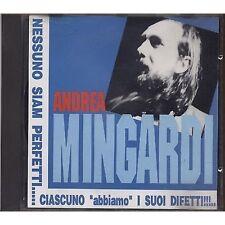 ANDREA MINGARDI - Nessuno siam perfetti ciascuno - CD 1993 USATO OTTIME COND.