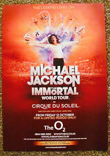 MICHAEL JACKSON THE IMMORTAL WORLD TOUR LONDON POSTER CIRQUE DU SOLEIL