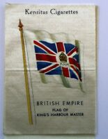 Kensitas Cigarettes British Empire Flag of Kings Harbour Master Silk Patch