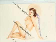 """VARGA SEXY BRUNETTE TOPLESS WITH HAT- RISQUE-4""""X6""""(#23*)"""
