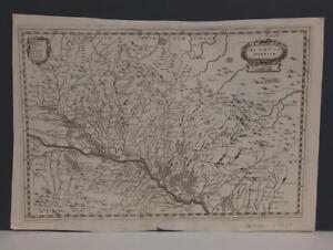 LOWER ALSACE FRANCE 1650ca HOLSIUS UNUSUAL ANTIQUE ORIGINAL COPPER ENGRAVED MAP