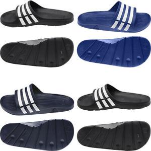 Adidas Mens Sliders Duramo Slides Slip Ons Shower Shoes Beach Pool Sandals Size