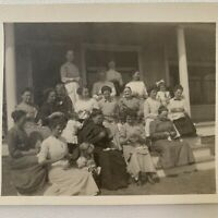 Antique RPPC Photograph Postcard Group Photo Of Women Needlework Sewing Circle