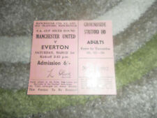 1969 FA CUP Q- FINAL TICKET MANCHESTER UNITED V EVERTON