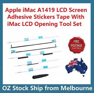"""Apple iMac 27"""" A1419 LCD Screen Adhesive Strips Tape Stickers Set Opening Tool"""