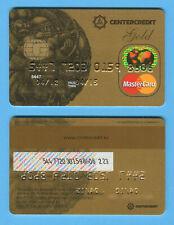 KAZAKHSTAN:Expired Mastercard GOLD debit card of CenterCredit Bank Hologram chip