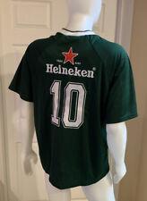 Heineken Beer Jersey Uefa Champions League Football Soccer # 10 2010 Men's Xl