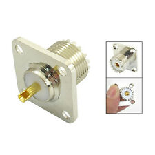 SO-239 Female Jack Square Shape Solder Cup Coax Connector For Radio New