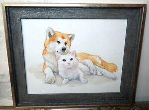 Pets Personalised Portrait A4 CUSTOM Watercolour Drawing Cat Dog Blackkingsdream