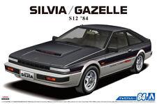 1984 Nissan Silvia S12 Gazelle Turbo RS-X 1:24 Model Kit Bausatz Aoshima 056158