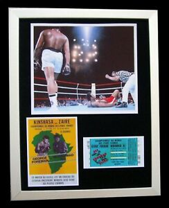 MUHAMMAD ALI+CASSIUS CLAY+Rumble In The Jungle+LTD+FRAMED+EXPRESS GLOBAL SHIP!!
