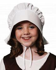 Fancy Dress Costume Victorian Childs White Bonnet Hat